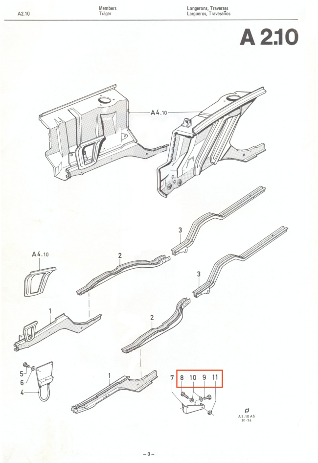Mk2 Escort Anti Roll Bar Bracket Bolt Set (All Stainless Steel) Factory Drawing #1
