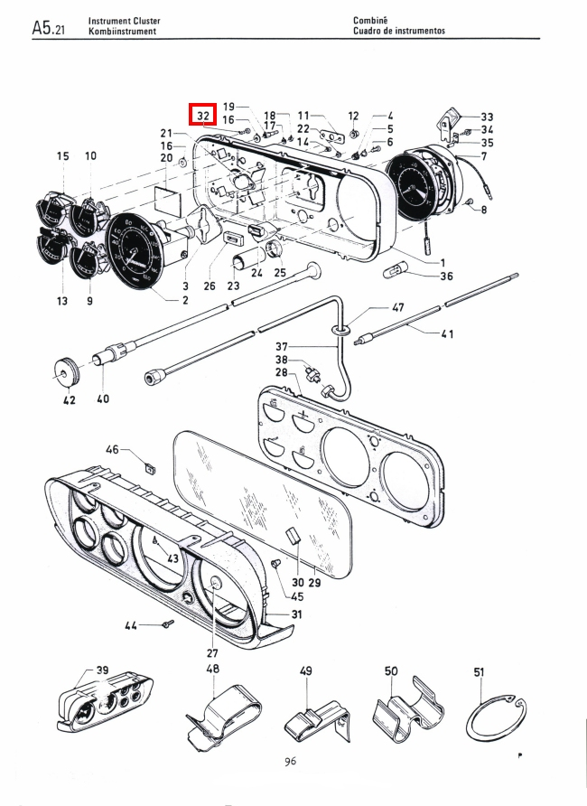 Mk1 Escort Instrument Cluster Cowling Screws Factory Drawing #1