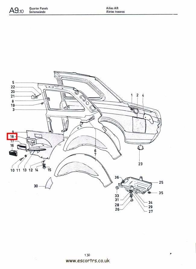 Mk1 Escort Rear Ash Tray Retaining Plate Factory Drawing #1